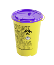 0.7 Litre Disposable Cytotoxic Sharps Container