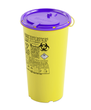 1 Litre Disposable Cytotoxic Sharps Container