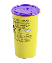 2.5 Litre Disposable Cytotoxic Sharps Container